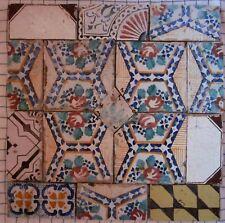 riggiole mattonelle antiche maioliche pannello 60x60 vintage pezzi unici   c209