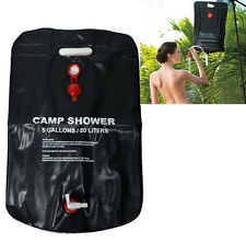 20L Outdoor Camping Hiking Solar Energy Heated Camp Shower Pipe Bag Portable