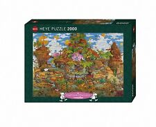 HY29360 - Heye Puzzles - Cartoon , 2000 Pc - Train, Mordillo