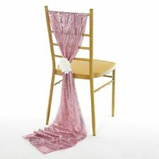 """10 SEQUIN TULLE TABLE RUNNERS or CHAIR COVER SASHES 14""""x108"""" Made USA 10 Colors"""