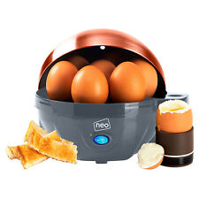 Neo Grey and Copper Electric Egg Cooker Boiler Poacher & Steamer Fits 7 Eggs