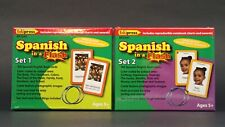Edupress Spanish in a Flash Cards Sets 1 & 2   BRAND NEW and SEALED