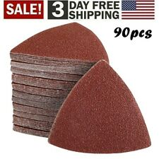 90Pack Universal Sand Paper: for Oscillating Multi-Tools and other 3-1/8