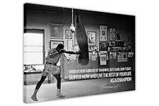 CHAMPION QUOTE BY MUHAMMAD ALI WALL ART CANVAS PRINTS SPORTS PICTURES DECORATION