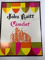 "Vintage John Raitt In ""Camelot"" Souvenir Program 1970's"