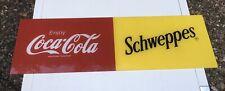 More details for coca cola / schweppes perspex advertising sign, pub /cafe etc.
