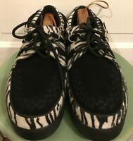 Men's TUK Velvet Animal Print Creepers /.Loafers Sneakers size 12M