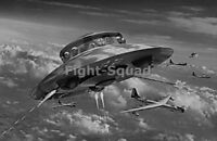 WW2 Picture Photo  UFO Haunebu Firing Against Planes  2874