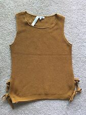Authentic Madewell side-tie sweater-tank Sz. XX-Small, Gold Dust $ 65.