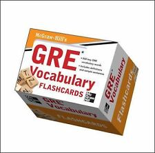 McGraw-Hill's GRE Vocabulary Flashcards  VeryGood