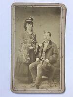 Antique Handsome Young Couple Civil War Era CDV Photo