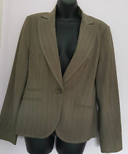Ladies George Business 2pc Taupe Lined Jacket & Trousers Size 12