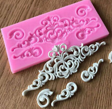 Floral Silicone Fondant Lace Mould Flower Cake Decorating Baking Mold Sugarcraft