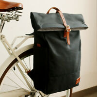 Tourbon Schwarz Radfahren Fahrrad hinten-guter Zustand Schultertasche Shopper