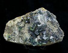 Natural rare bismuthinite & fluorite & crystal mineral specimen/China  Y00735