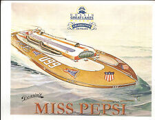 Dossin's Miss Pepsi Hydroplane Color Photocopy Print - Dossin Great Lakes Museum