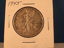1945P-D-S Walking Liberty Half Dollars