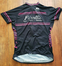 New Women's XL Cycling Jersey Black Pink Full Zip Voler Foothill Cyclery SLO CA
