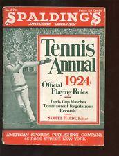 1924 Spalding Tennis Annual Guide
