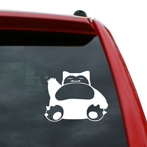 """Snorlax Vinyl Decal   Color: White   5"""" tall"""