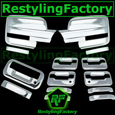 09-14 Ford F150 Chrome Mirror+4 Door Handle+no keypad+PSG keyhole+Tailgate Cover