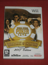 World Series Poker  Tournament of Champion 2007 Edition - Jeu WII/WIIU Complet