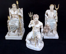 Zeus Hades Poseidon sculptures Ancient Greek God brothers Statues
