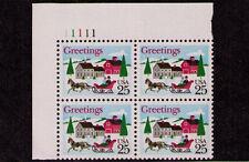 US USA Sc# 2400 MNH FVF PL# BLOCK Christmas Sleigh Ride