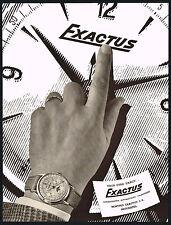 1950s Old Vintage 1951 Exactus Moon Phase Calendar Swiss Watch Art Print AD .