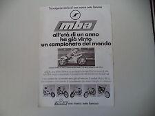 advertising Pubblicità 1978 MOTO MBA 125 e LAZZARINI