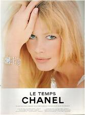 ▬► PUBLICITE ADVERTISING AD Montre Watch CHANEL Le temps Claudia Schiffer 1994