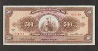 Peru,500 Soles de Oro Banknote,26.2.1965, Very Fine Cond,Cat#91-8660
