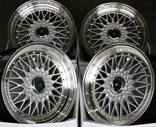 "ALLOY WHEELS X 4 17"" OUTLAW ES1 FITS 5X100 CHRYSLER TOYOTA CELICA SEAT SKODA"