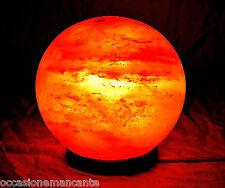 Lampada sfera, palla c.ca 15-16 cm sale rosa,himalaya ,Salgemma original