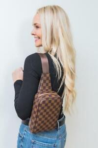 Checkered One shoulder bag