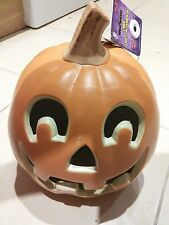 "Halloween Light Up 9"" Pumpkin decoration non flame jack lantern FREE JELLY MOULD"