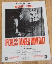 IPCRESS DANGER IMMEDIAT Affiche film 60x80 SIDNEY J. FURIE, MICHAEL CAINE, GREEN