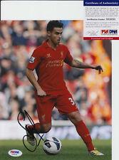 Suso Spain Liverpool Lfc Signed Autograph 8X10 Photo Psa/Dna Coa #2