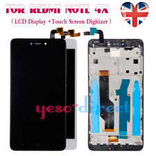 For Xiaomi Redmi Note 4X Black LCD Display Touch Screen + Frame Replacement