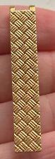 Marrakesh Textured Tie Bar/Money Clip 10.03g Vintage Tiffany & Co. Solid 14K Yg