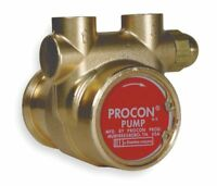 "PROCON, 112A035F11CA 250, 3/8"" Brass Rotary Vane Pump, 48 Max. Flow (GPH)"