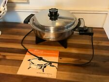 Lustre Craft  Stainless Steel Liquid Core Electric Skillet works
