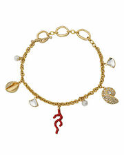 Swarovski Shell Coral 5520673 Gold-Tone Plated Clear-Colored Crystal Bracelet