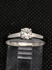 Platinum Diamond Solitaire Ring 0.30 Carat Size L1/2