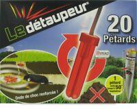 LOT 20 PETARDS LE DETAUPEUR anti taupes rat taupier taupe MYRIAD