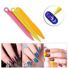 Lots 2pcs Magnetic Magnet Nail Art Pen Stick Tool for Cat Eye Gel Polish UV LED