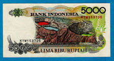 Rare Unc Indonesia P130f 5000 Rupiah Sasando Musical Instrument 1992/1997