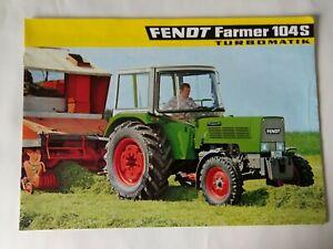 Traktor Fendt Farmer 104S Prospekt