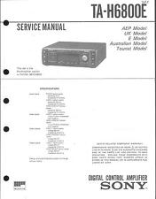 Sony Original Service Manual per ta-H 6800 e