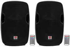 "(2) Rockville BPA10 10"" Professional Powered 400 Watt DJ PA Speakers w/Bluetooth"